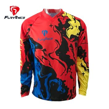 Breathable Motocross Jersey 100% MTB moto shirt Thrilling game bicycle riding clothes Mountain Bike downhill gear DH MX Jersey