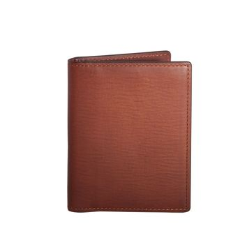 GiGi New York Card Case with ID Holder Brown Vachetta Leather