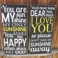 You Are My Sunshine Both Verses Song Set by SaltboxHouseSigns