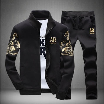 Casual Mens Fashion Tracksuits Sweatshirts Jackets+Pants [8833674508]