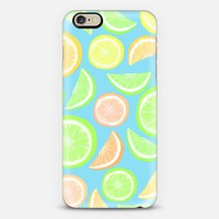 Mixed Citrus - blue iPhone 6 case by Lisa Argyropoulos | Casetify