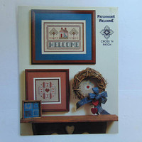 Patchwork Welcome Cross Stitch Pattern Cross 'N Patch Booklet