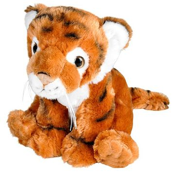 8 Inch Tiger Stuffed Animal Plush Floppy Zoo Species Collection