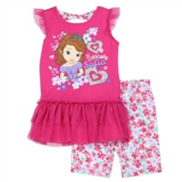 SOFIA Girls 4-6X 2PC Short-11254ps