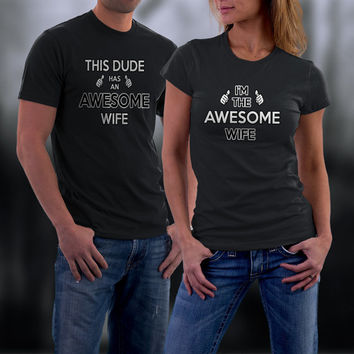 Couples Shirts, Couple T Shirts. Awesome Couple Match TShirts, His and Her Shirts, Husband/ Wife Tees, Couples Gift,Valentine Gifts