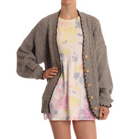Hearts & Bows Grey New Carly Boyfriend Style Cardigan