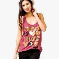 FOREVER 21 Florida State University Seminoles Tank Burgundy/Gold Medium