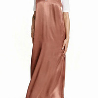 Pink Split Side Spaghetti Strap Maxi Dress