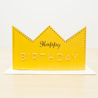 Birthday Crown Greeting Card