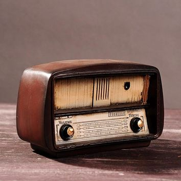 Retro Radio Vintage Home Decor Zakka Shabby Chic Home Decoration Accessories Ancient Resin Crafts Home Ornaments 19*11*7.2cm