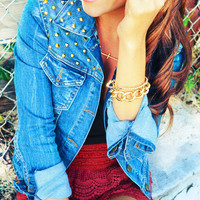 Looking For A Stud Denim Jacket | Hope's