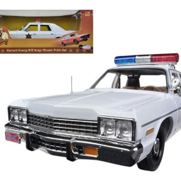 "1975 Dodge Monaco Police Pursuit ""Dukes of Hazzard"" Limited to 2000pc 1-18 Diecast Model Car by Autoworld"