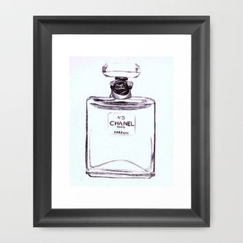 Chanel No 5 Framed Art Print by Alicia Evans