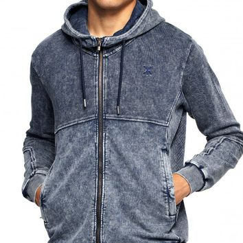 Berzerk Zip Hoodie Dyed Midnight Blue