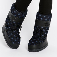 Love Moschino Blue Stars Snow Boots