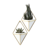 Diamond Jim Wall Vase - Set of 2