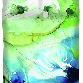 Blue And Green Abstract - Land And Sea - Sharon Cummings Duvet Cover