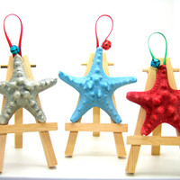 Christmas Tree Ornaments, Holiday Ornaments, Beach Christmas, Beach Holidays, Starfish Ornaments, Starfish Decor, Holiday Decor
