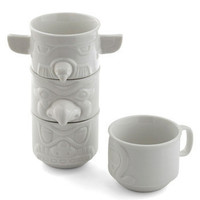 Stacked in Your Flavor Mug Set | Mod Retro Vintage Kitchen | ModCloth.com