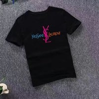 """YSL"" Women Simple Casual Letter Logo  Short Sleeve T-shirt Top Tee"