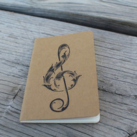 Mini Treble Clef Music Note Journal