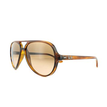 Ray-Ban Sunglasses Cats 5000 4125 820/A5 Tortoise Pink Brown Gradient