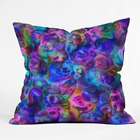 Lisa Argyropoulos Colour Aquatica Berry Blue Throw Pillow