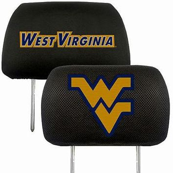 West Virginia Mountaineers 2-Pack Auto Car Truck Embroidered Headrest Covers