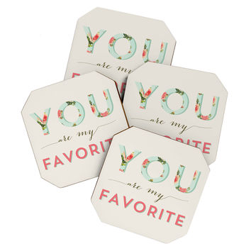 Allyson Johnson Floral You Are My Favorite Coaster Set
