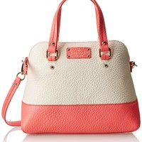 kate spade new york Grove Court Maise Cross Body Bag,Cement/Surprise Coral,One Size
