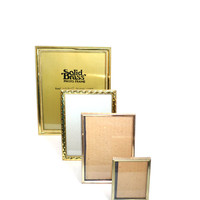 Brass Picture Frames Gold Picture Frames set of 4 Brass Picture Frames Standup Picture Frame Wedding Décor Wedding Picture Frames