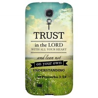 Proverbs 3:5 - Geeks Designer Line Bible Series Hard Back Case for Samsung Galaxy S4