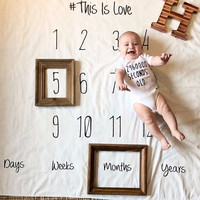 This is Love Days + Numbers Baby Blanket
