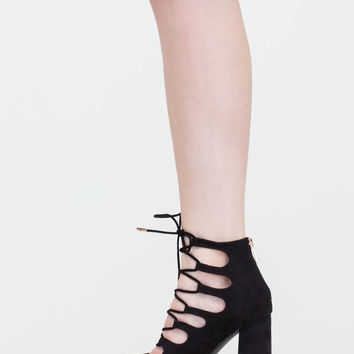 She's Got Sole Chunky Lace-Up Heels