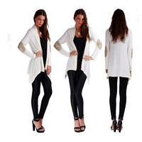 Splendid Long Knitted Cardigans Sweater Casual Loose Sweater for Female Outerwear Coat = 1695533764