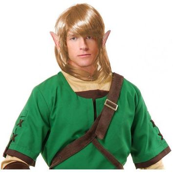 Link Wig Adult Legend of Zelda Costume Halloween Fancy Dress