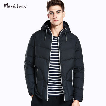 New Men's Winter Coats Fashion Men Clothing Casual Winter Jackets Man Hooded Polyester Men Coat