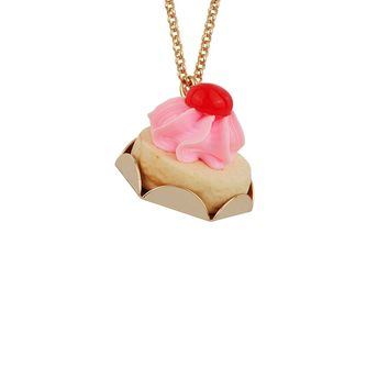 N2 by Les Néréides GOURMET COFFEE CHERRY CREAM CHEESE PIE LONG NECKLACE