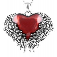 Controse Guarded Heart Necklace Silver