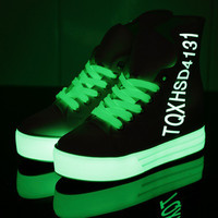 Luminous platform shoes