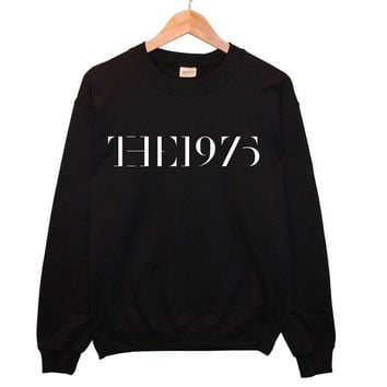 2016 NEW The 1975 Tour Logo Letters Print Women Sweatshirt Cotton Casual Hoody Black Hipster Plus Size Street Jumper Swag TZ205-