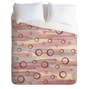 Viviana Gonzalez Marsala Abstract world 02 Duvet Cover