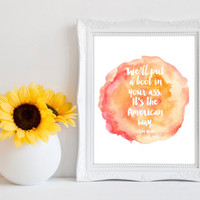 Printable Boot In Your Ass Wall Art - USA Pride
