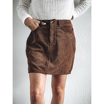 Call It What you Want Corduroy Skirt