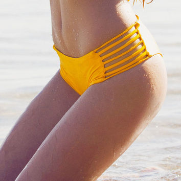 Stone Fox Swim Bali Bottoms in Sunset