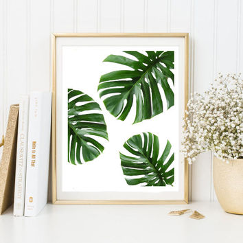 leaves beach art painting art print room decor Typographic Print brandy belville frame quotes bedroom poster tumblr room decor 8x10