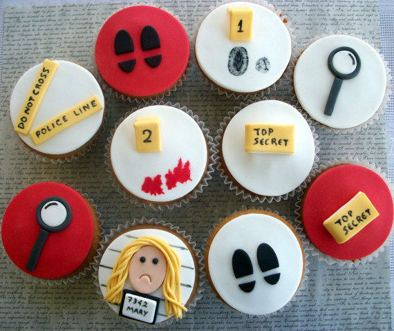 12 Spy Party Fondant Cupcake Toppers, From LenasCakes On Etsy