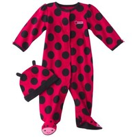 JUST ONE YOU® Made by Carters Newborn Girls' Ladybug 2 Piece Sleep n' Play - Red