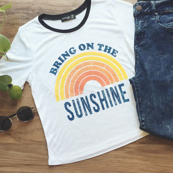 Bring On The Sunshine Ringer Tee