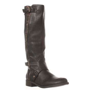 G by GUESS Hertle2 Wide Calf Riding Boots, Black, 6 US